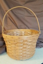 Longaberger 1987 LARGE FRUIT APPLE BASKET With Plastic Protector - $39.95