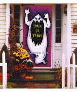 6-Ft. Horror Ghost Silhouette Wall Door Table Cover Halloween Decor - $4.94