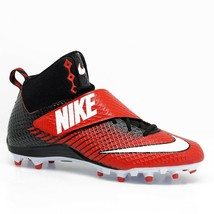 Nike Lunarbeast Strike Pro Mid 3/4 TD Mens 13.5 Football Cleats FREE SOCKS - $11.08