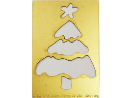 Paula Hallian Metal Embossing Plate, Christmas Tree #XDAH-160