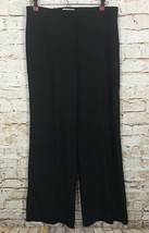 Nina Ricci 39 Wool Pants Avenue Montaigne Paris Slacks Silk Blue Women's Size 4 - $35.34