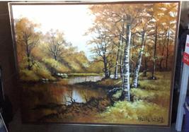 "Large 61""x 49"" Original Walter Sherwood Landscape Oil Painting Signed Artist Art image 1"