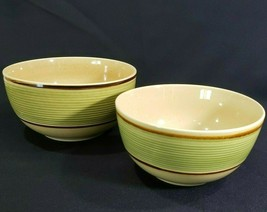 Gibson Everyday Microwave Oven Safe Mixing Service Serving Bowls Green S... - $14.95
