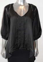 NWT AFFLICTION BLACK PREMIUM womens CUT-OUT 3/4 sleeve loose fit KIMONO ... - $44.88
