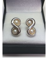TIFFANY & CO. Sterling Silver Infinity Pearl Earrings - $165.00
