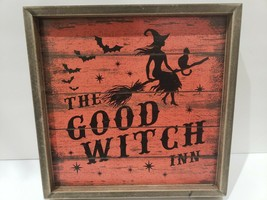 """Halloween Vintage Style Witch GOOD WITCH INN Wall Sign Decor 11.75""""  - $28.99"""