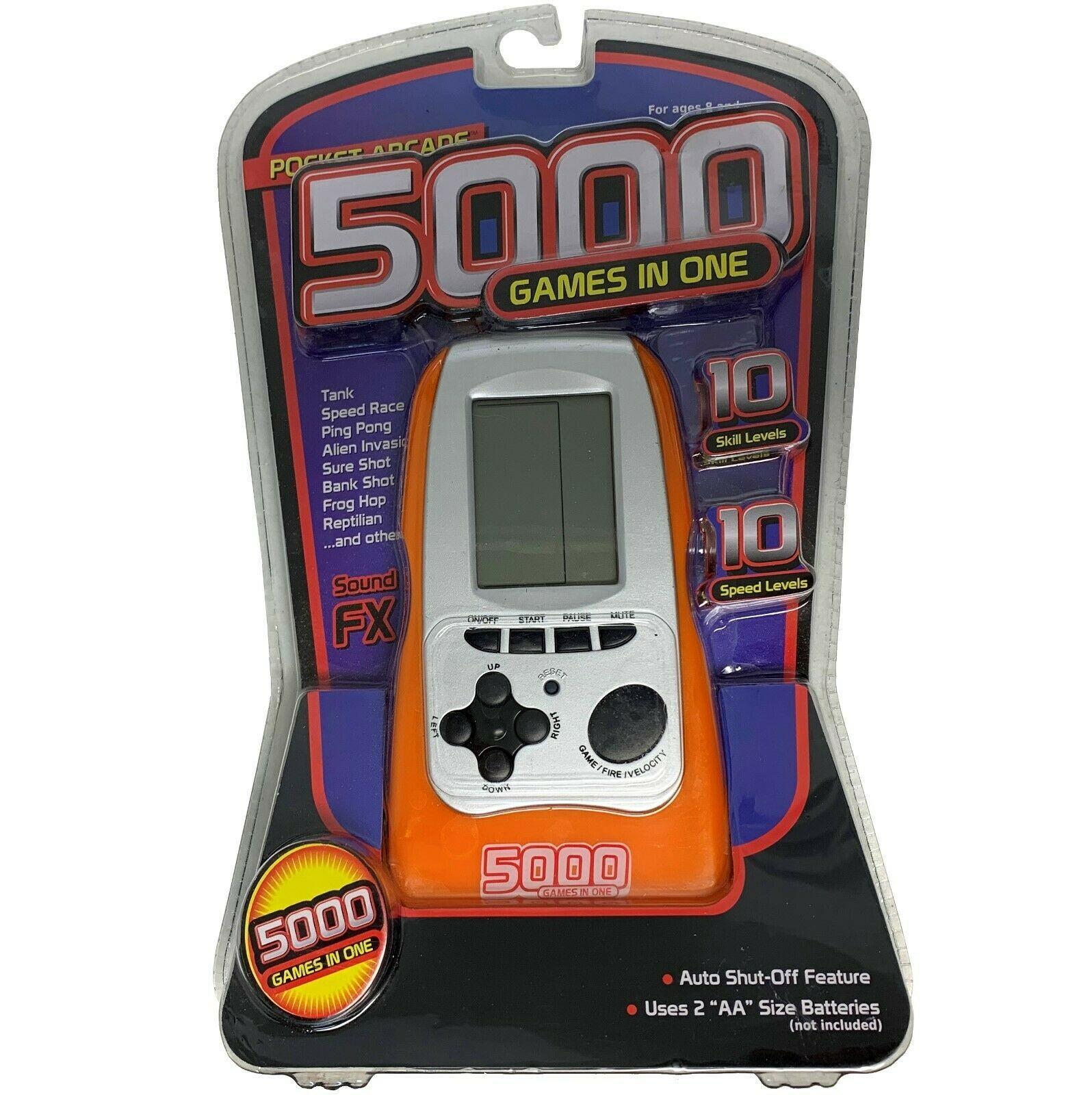 Westminster - 5000 Games-in-One Pocket Arcade - Handheld Electronic Game ORANGE - £8.69 GBP