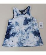 Ralph Lauren Girls Tie Dye Racer Back Tank Top Size 5 NWT Navy White - $14.82