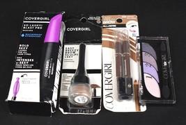 NEW Covergirl Mascara, Brow Pencil, Brow Pomade, and Eye Shadow Quad Bun... - $14.84