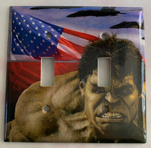 Hulk US Flag Air Force Light Switch Power Outlet Wall Cover Plate Home decor image 2