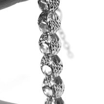 """18K WHITE GOLD CHAIN, BIG ROUNDED DIAMOND CUT OVAL DROPS 6 MM, ROUNDED, 18"""" image 4"""