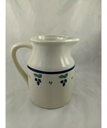 Hartstone Large Pitcher Pottery Blueberry 1990  - $39.95