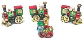 4 Blown Glass Train Christmas Ornament Vintage New with Tags - $44.99