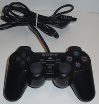 """SONY PS2 """"Black"""" CONTROLLER SCPH-10010 A Dual Shock Wired OEM Playstation 2 - $22.12"""