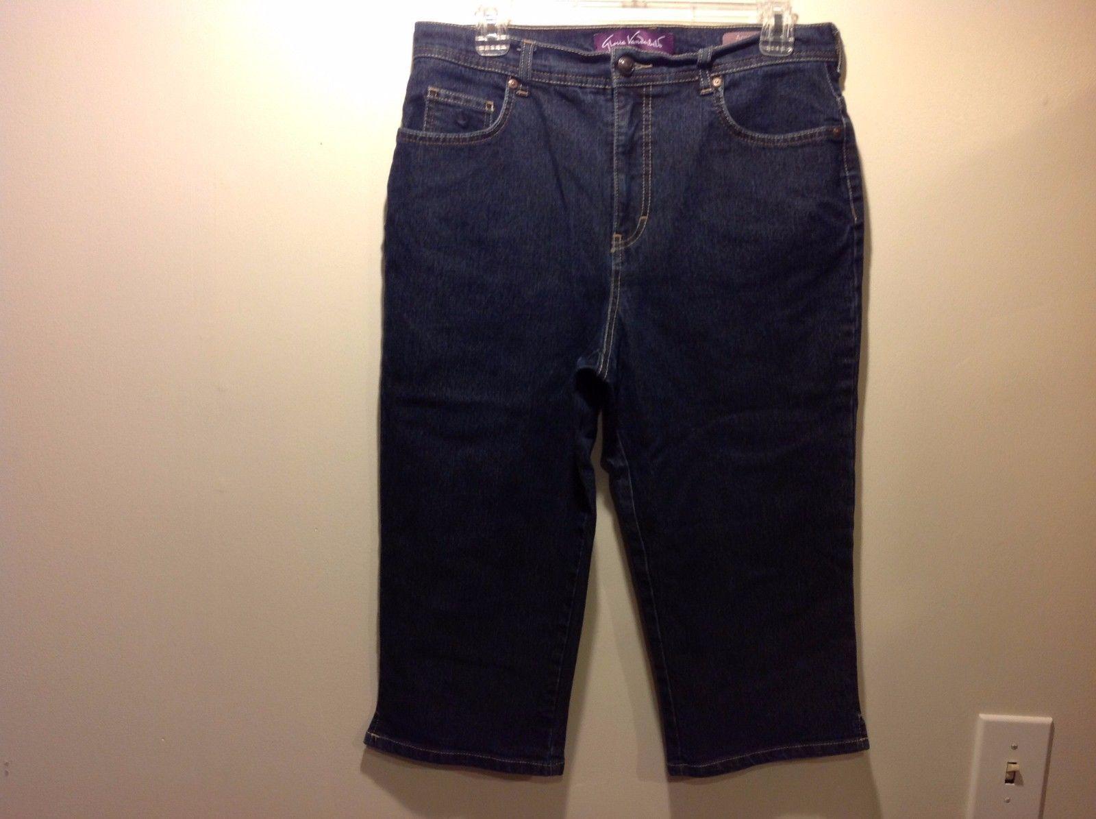 Gloria Vanderbilt Dark Denim Capri Jeans Sz 12