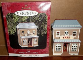 Hallmark Cafe Nostalgic Houses and Shops Ornament Collector Series MIB 1997 - $17.59
