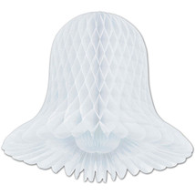 """2 Westminster honeycomb bells paper decoration white 11"""" dia - $5.89"""