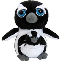 "Petting Zoo Penguin Mom and Baby 10"" Plush Bright Eyes Pocketz Series - $19.75"