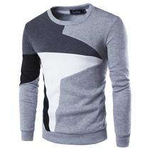 2017 New Autumn Fashion Brand Casual Sweatshirt O-Neck Patchwork Slim Fi... - $26.10+