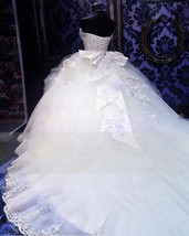Plus sized Beaded Ball Gown Wedding Dress  at Bling Brides Bouquet Online Bridal image 4