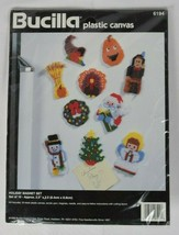 NEW Bucilla Holiday 1996 Magnet Set Plastic Canvas Needlepoint Kit #6194 - $39.59