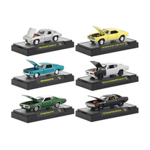 Detroit Muscle Release 46, 6 Cars Set IN DISPLAY CASES 1/64 Diecast Model Cars b - $51.45