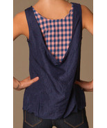 NWT $258 New Womens Marc Jacobs Silk Sleeveless Top Blue Pink Checks M C... - $258.00