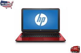 """HP Flyer Red 15.6"""" laptop Intel N3540 2.16GHz 4GB 500GB HDD 15-f272wm Wi... - $249.99"""