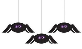 Creative Converting Halloween Dimensional Spider Hanging Cutouts 3pc per... - ₨435.92 INR