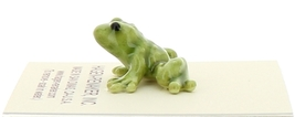 Hagen-Renaker Miniature Ceramic Frog Figurine Tiny Papa Frog and Baby Frog Set image 6