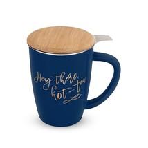 Ceramic Mug, Bailey Blue Insulated Cute Novelty Unique Tea Infuser Mug - £17.98 GBP