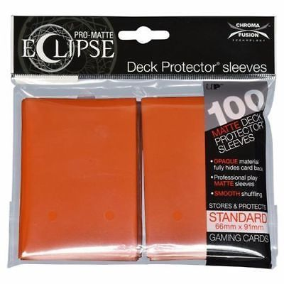 Ultra PRO Matte ECLIPSE Pumpkin Orange Deck Protector Sleeves 100ct ULP85607