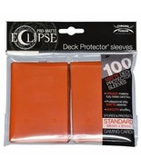 Ultra PRO Matte ECLIPSE Pumpkin Orange Deck Protector Sleeves 100ct ULP8... - $11.75