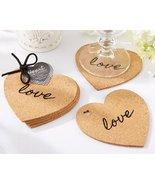 Heart Cork Coasters Set of 4 [Set of 24] - $50.44