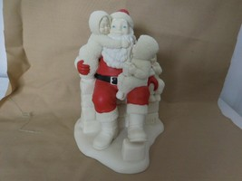 """Snowbabies Dept 56 The Guest Collection Santa """"and we've been Really Goo... - $37.64"""