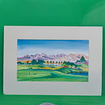 Large (20 X 14) Signed Original Watercolor Painting By Artist Susan Fridley - $5.95
