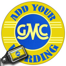 """Personalized Vintage GMC 12"""" Round Aluminum Sign with Matching Key Ring - $19.75"""