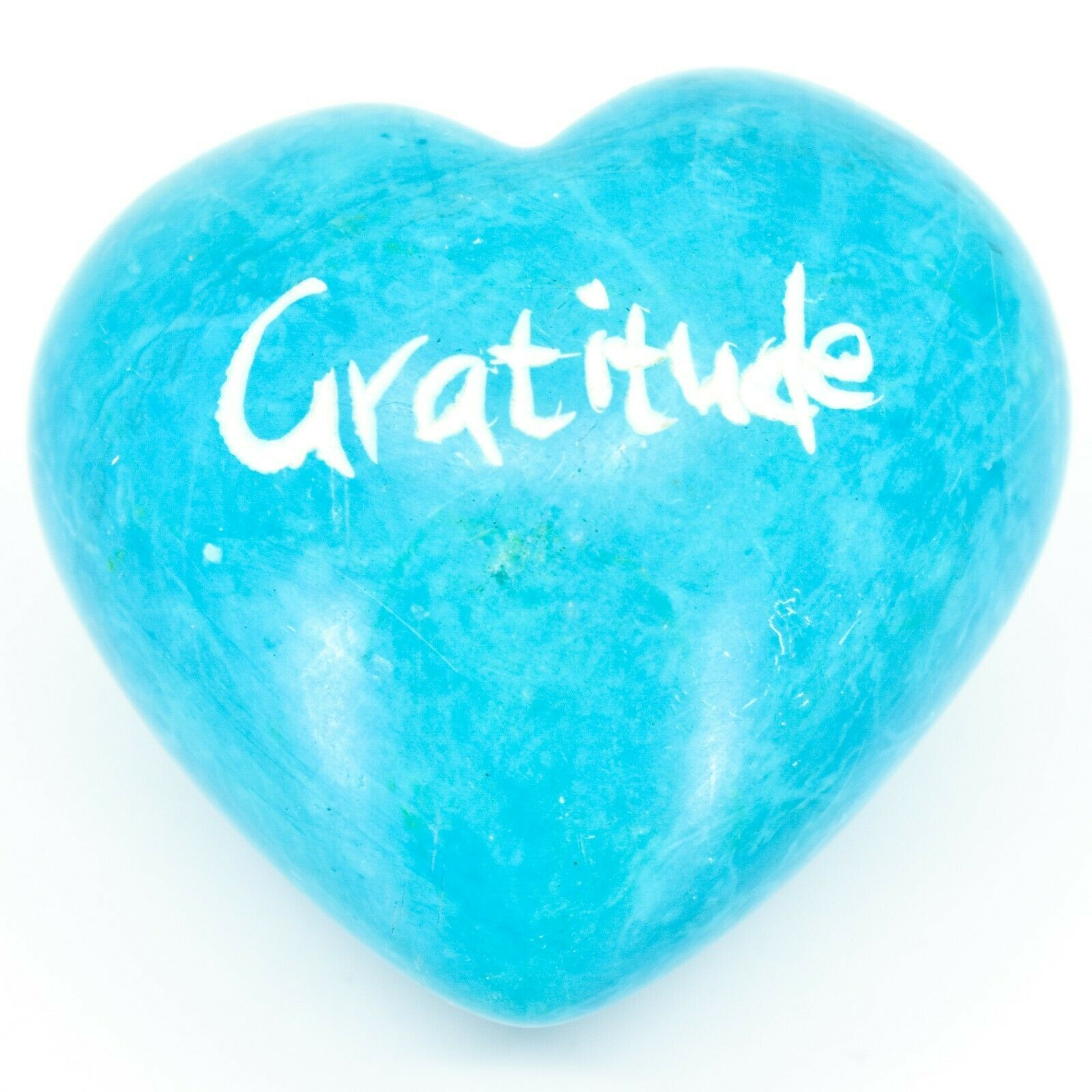 Vaneal Group Hand Carved Soapstone Volunteer/Gratitude 2-Sided Heart Paperweight