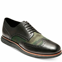 Cole Haan Men's Original Grand Shortwing Oxfords Black Camo 8 M MSRP 150... - $89.29