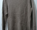 Sutton Studio 100% Cashmere Brown Ribbed Round Neck Sweater SZ M Long Sleeves