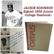 JACKIE ROBINSON SIGNED 1938 PASADENA J.C YEARBOOK PRE DODGERS JSA COA AU... - $4,299.00