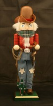 "New-In-Box Kurt Adler Christmas hand painted 15"" cowboy nutcracker figurine  - $31.63"