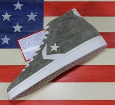 CONVERSE SAMPLE Pro Leather 76 Dr. J Suede HIGH Olive Green Shoes [15769... - $54.44