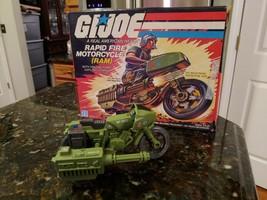 GI JOE RAPID FIRE RAM MOTORCYCLE HASBRO 1982 COMPLETE WITH ORIGINAL BOX - $124.95