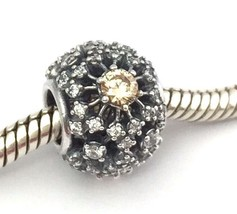 Authentic Pandora Inner Radiace 925 Silver Golden Clear CZ Bead 791370CCZ, New - $54.14