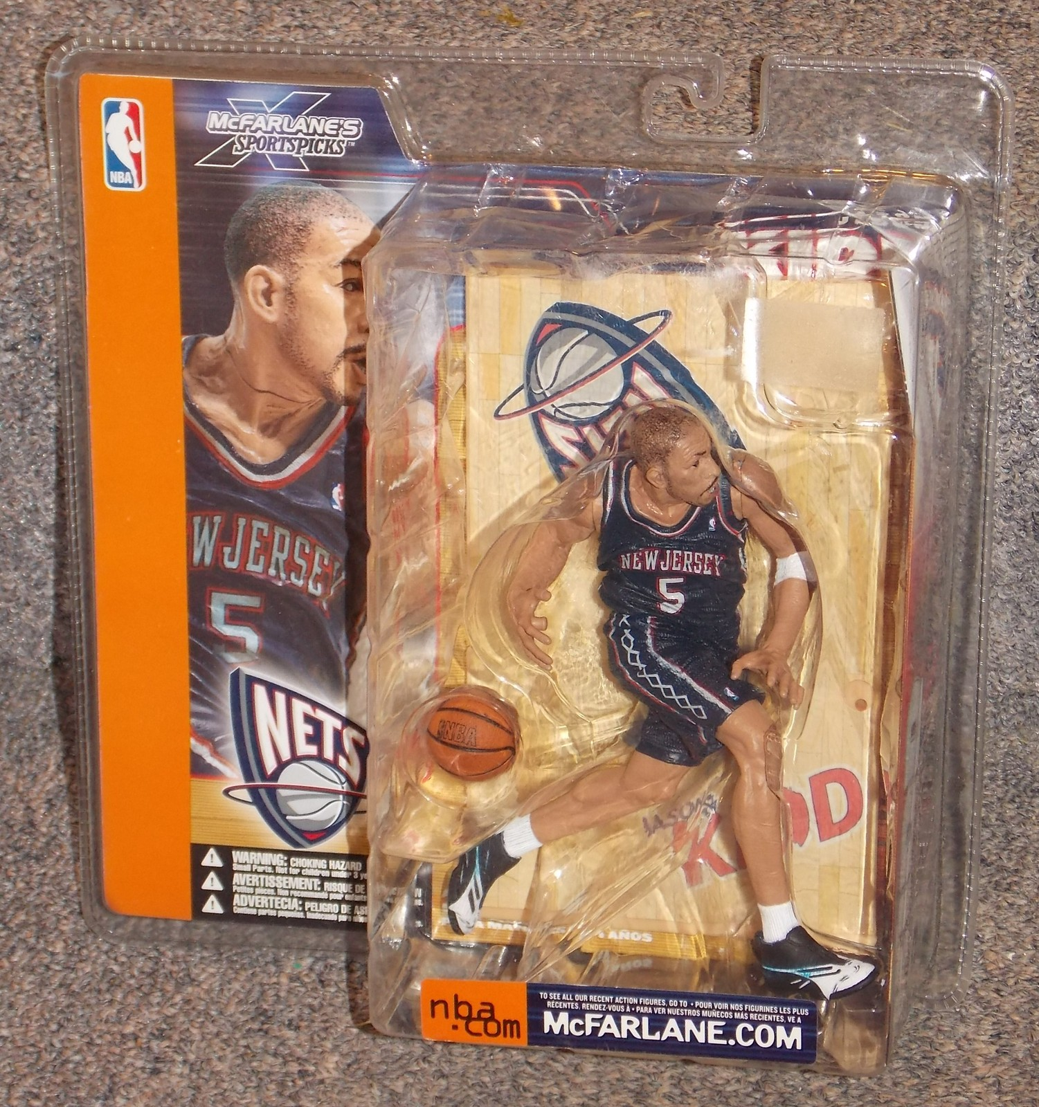 Primary image for 2002 McFarlane Toys NBA New Jersey Nets Jason Kidd Action Figure New In Package