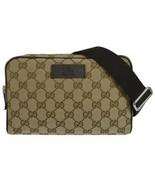 NEW Gucci GG Guccissima Canvas Fanny Pack Crossbody Waist Belt Bag 449174 - $591.03