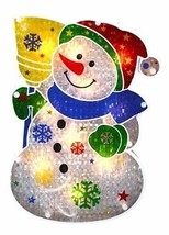 """12.5"""" Lighted Snowman Christmas Window Silhouette Decoration Holographic... - $13.16"""