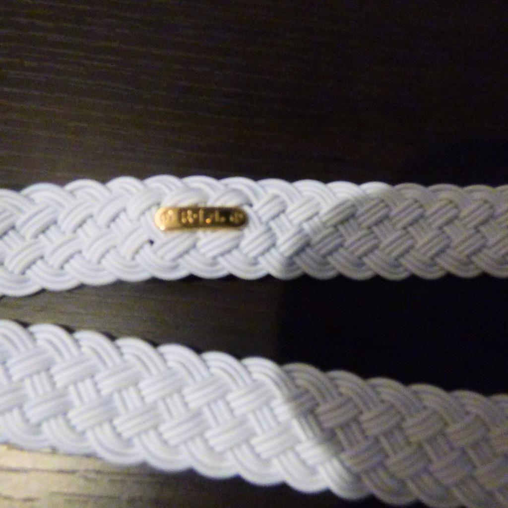 $38.00 Lauren Ralph Lauren Woven Stretch Belt, White, L