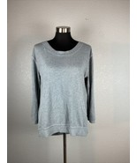 Stem Womens Sweater S Small Gray Made in USA Modal Blend - $98.99
